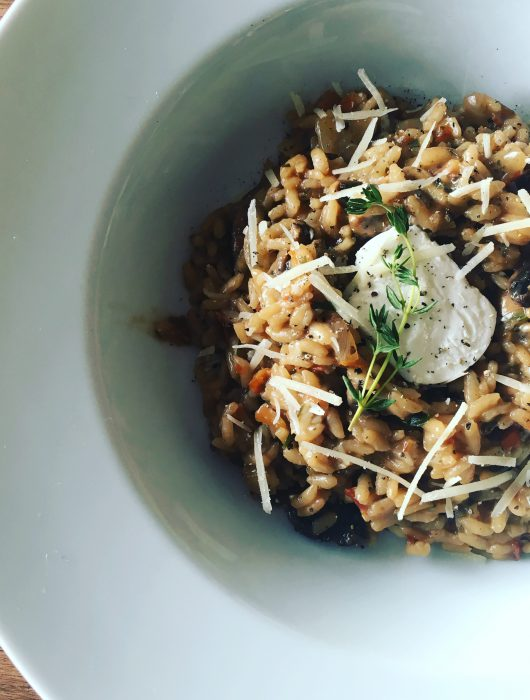 Rainspotting Mushroom Risotto