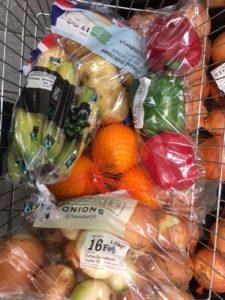 Plastic food waste
